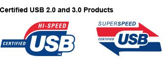 Certified USB 2.0 and 3.0 Products
